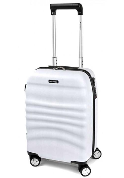 Летний чемодан на колесах Gabol Wrinkle S White