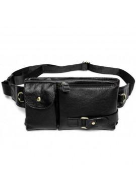 Фото Черная кожаная сумка на пояс BEXHILL BX9080A