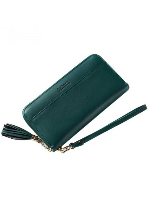 Зеленый женский кошелек Amelie Adele Green