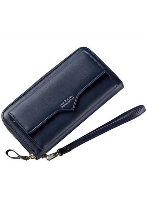 Женский кошелек с карманом для телефона Amelie Blue