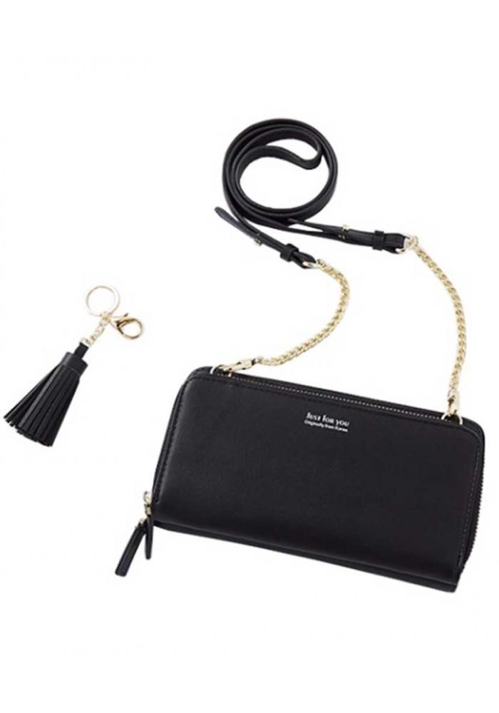 Черный кошелек-клатч для девушки Amelie Honey Black