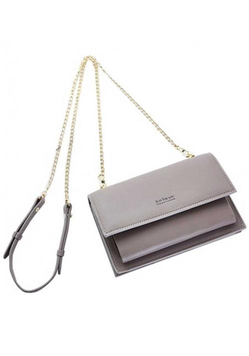Женский кошелек-клатч серого цвета Amelie Honey Gray