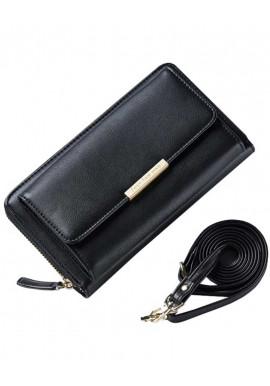 Женский кошелек-клатч черного цвета Amelie Mercer Black