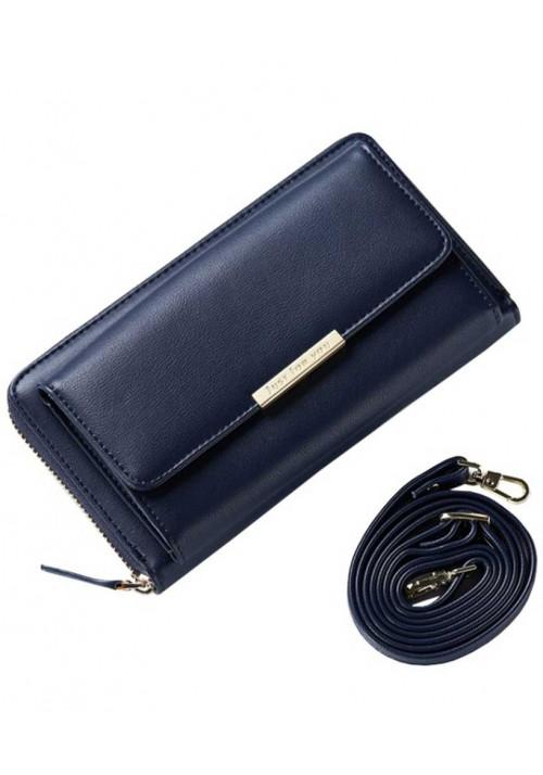 Женский кошелек-клатч синего цвета Amelie Mercer Blue