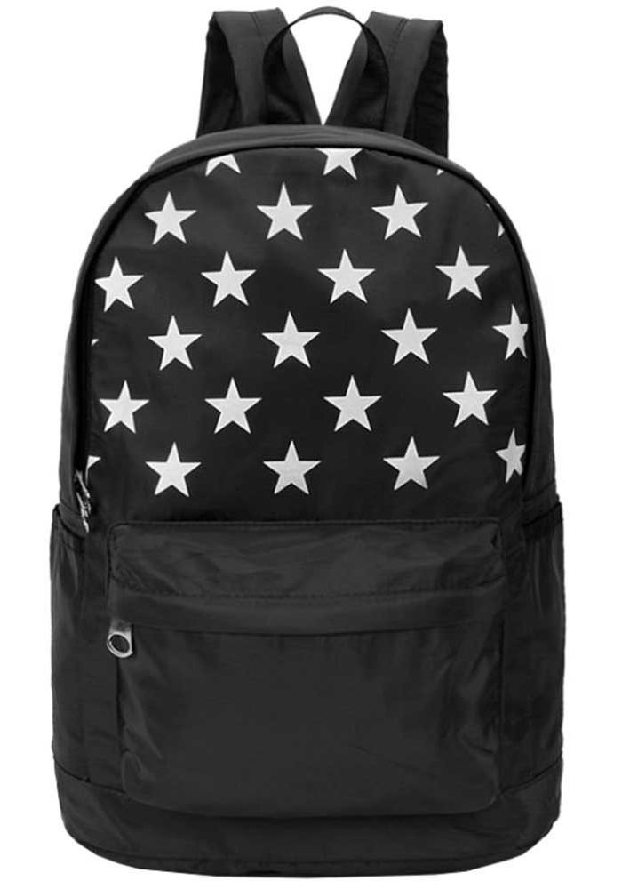 Фото Черный рюкзак со звездами DFSY ER BLACK STAR