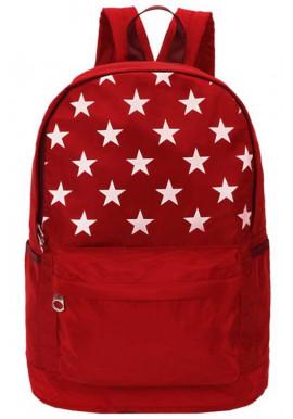 Фото Красный рюкзак со звездами DFSY ET