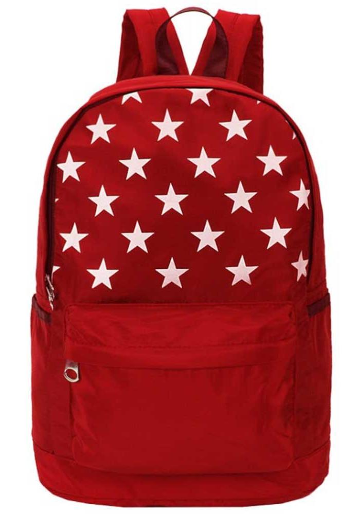 Красный рюкзак со звездами DFSY ET