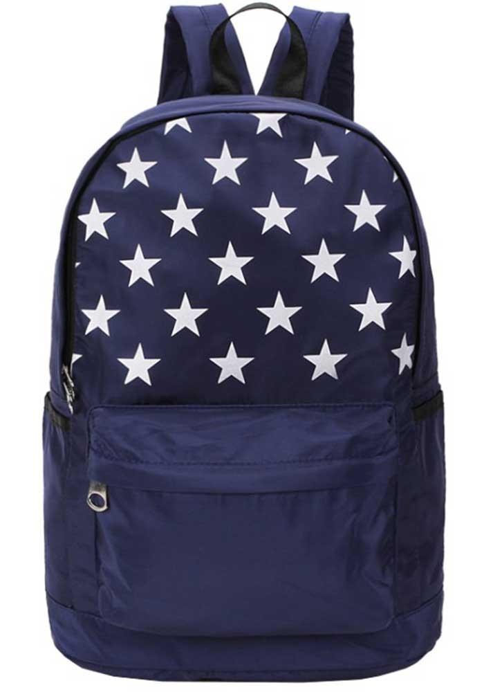 Синий рюкзак со звездами DFSY XC