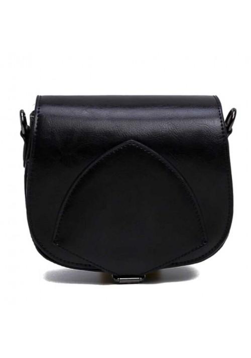 Кожаный женский клатч черного цвета