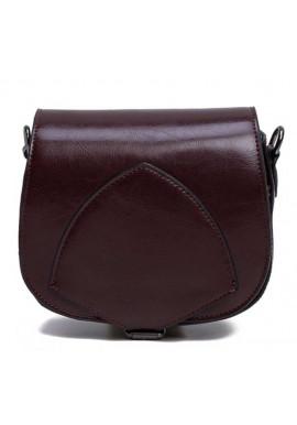 Фото Кожаный женский клатч коричневого цвета