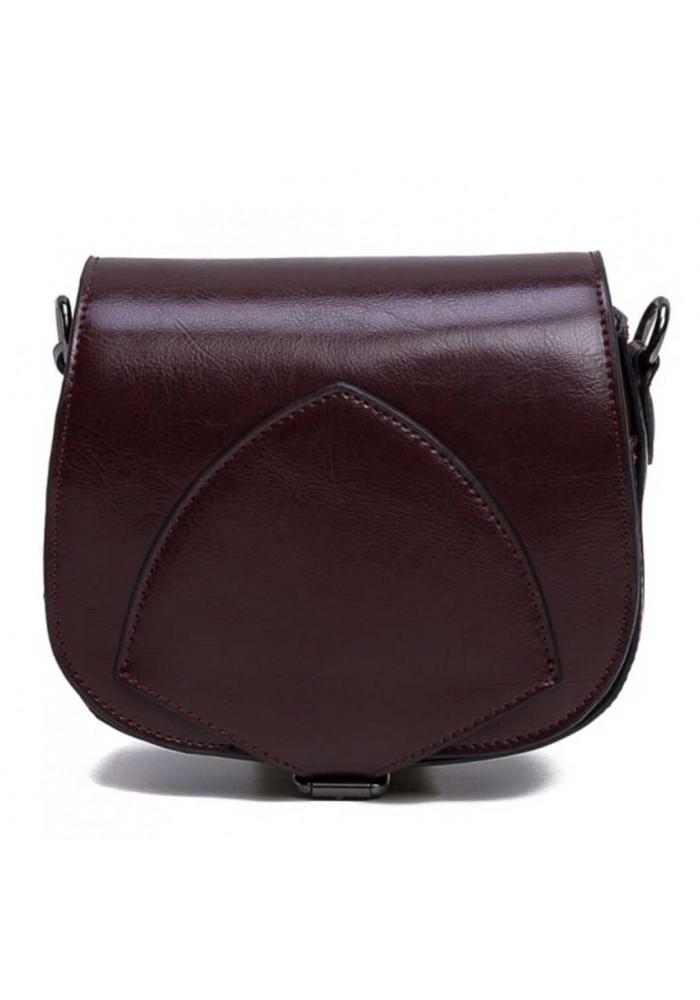 Кожаный женский клатч коричневого цвета