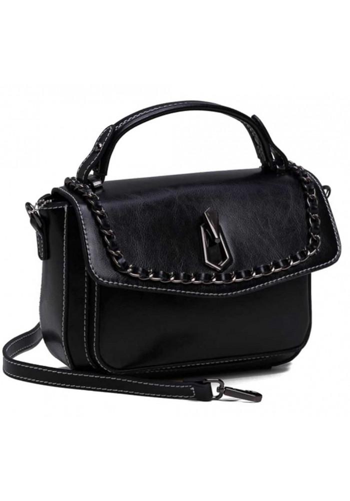 6af75284e569 ... Женская кожаная сумка кроссбоди черная, фото №2 - интернет магазин  stunner.com.