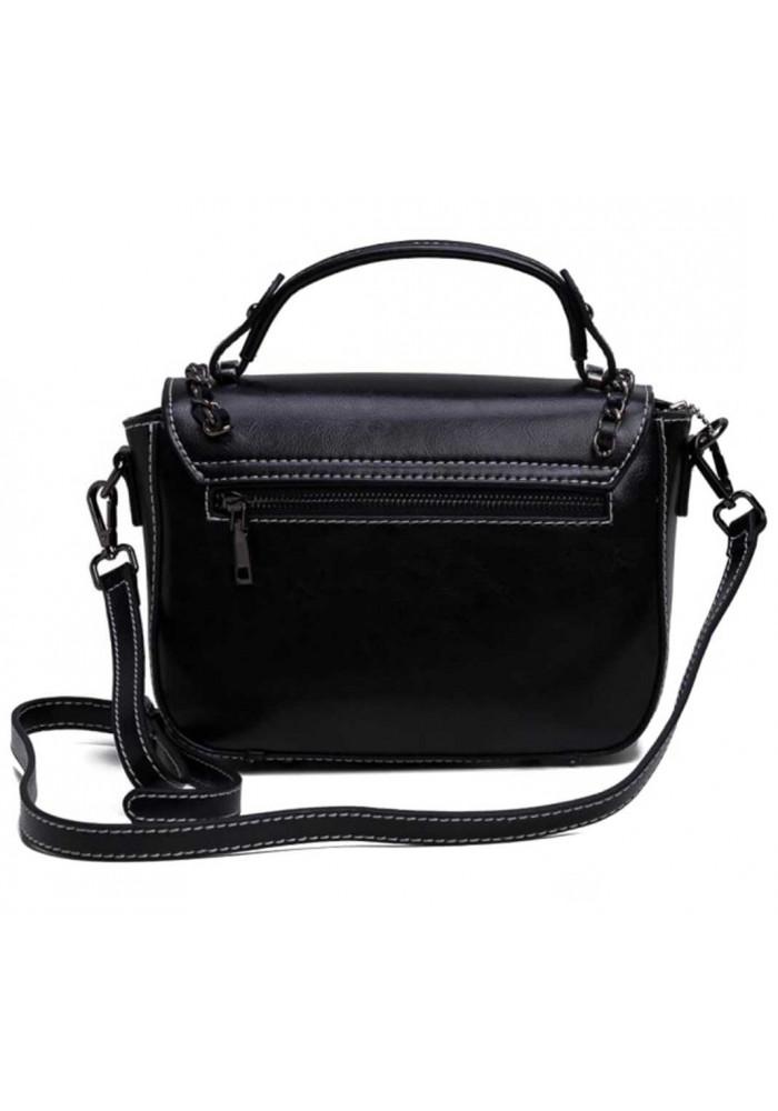 811ddc4265ac Женская кожаная сумка кроссбоди черная, фото №3 - интернет магазин  stunner.com.