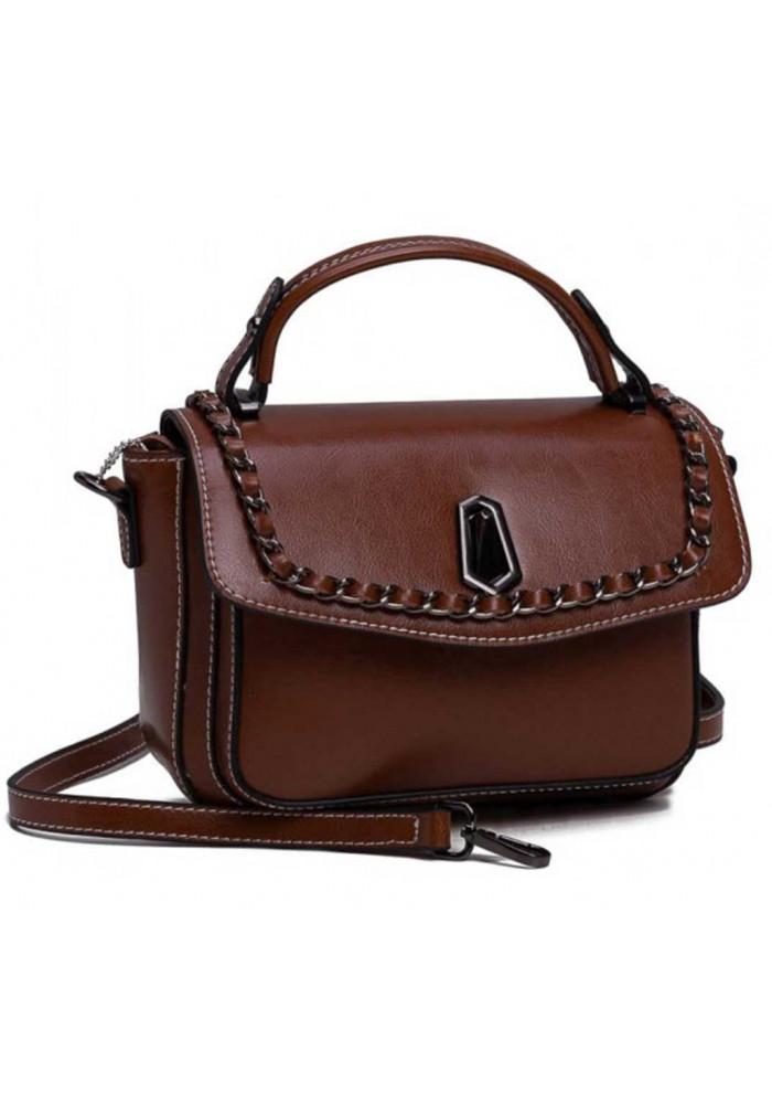 020e29e8b202 ... Коричневая женская кожаная сумка на плечо, фото №2 - интернет магазин  stunner.com ...