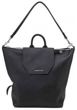 Фото Женская кожаная сумка-рюкзак Forstmann черная