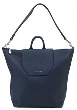 Фото Женская сумка-рюкзак из кожи Forstmann синяя