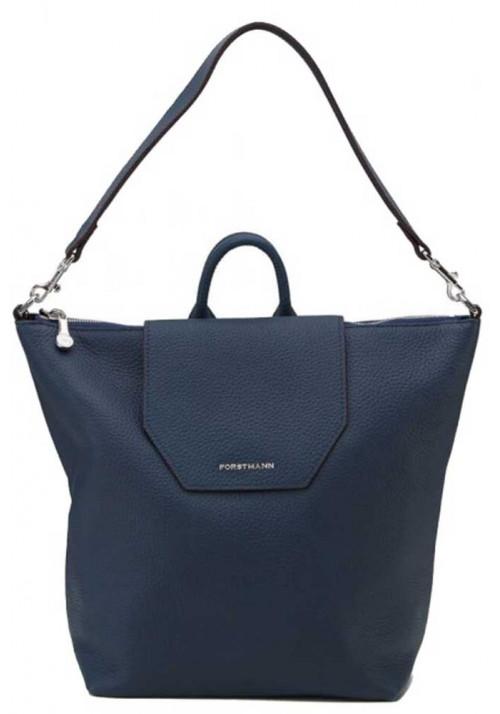 Женская сумка-рюкзак из кожи Forstmann синяя