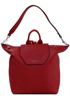 Фото Красная кожаная сумка-рюкзак Forstmann