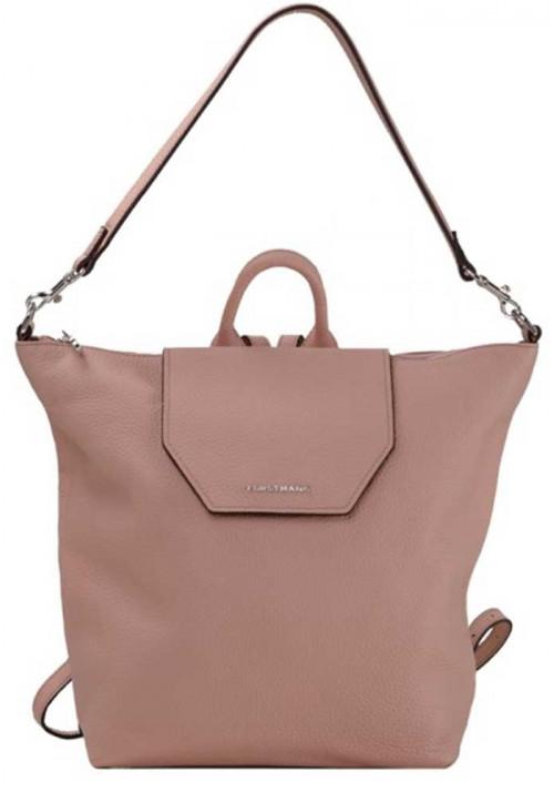Кожаная сумка-рюкзак розового цвета Forstmann