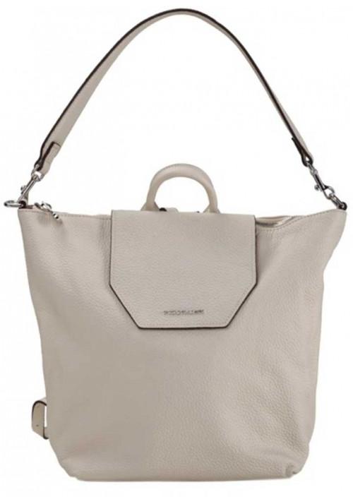 Белая кожаная сумка-рюкзак Forstmann