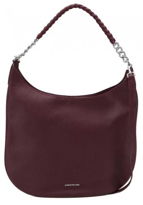 Бордовая женская кожаная сумка Forstmann