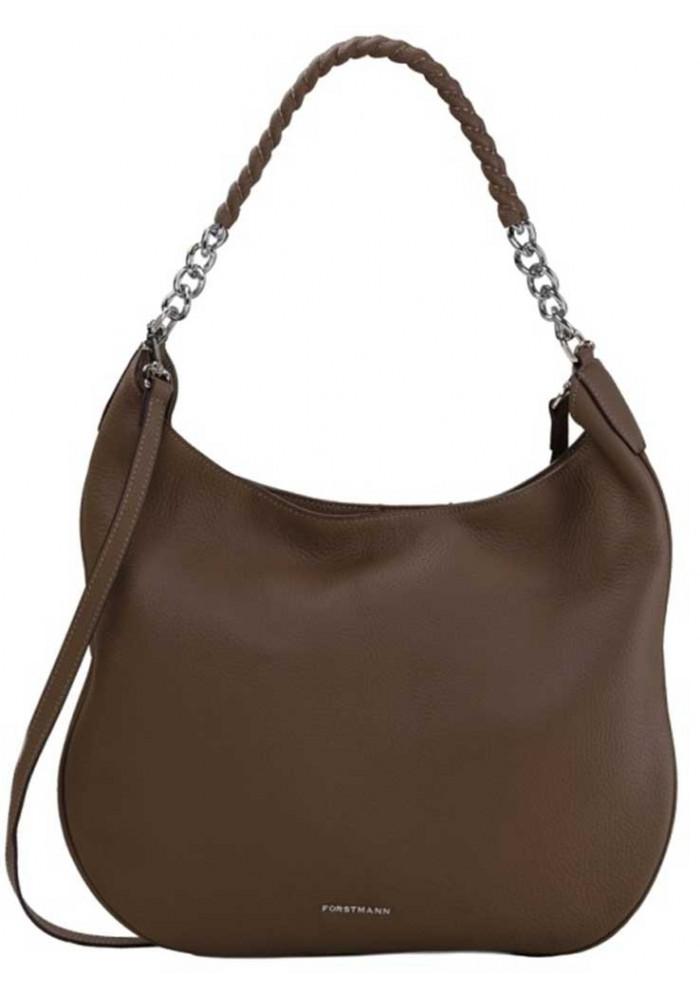 Коричневая женская кожаная сумка Forstmann