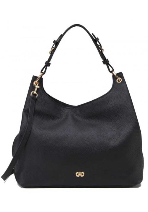 Женская сумка из черной натуральной кожи Forstmann