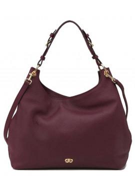 Фото Женская сумка из бордовой итальянсокй кожи Forstmann