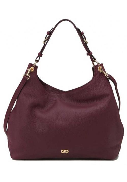 Женская сумка из бордовой итальянсокй кожи Forstmann