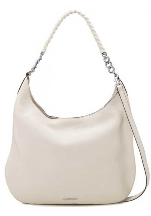 Летняя светлая женская кожаная сумка Forstmann
