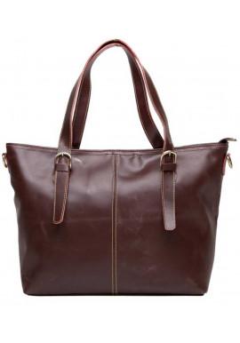Фото Женская сумка из коричневой гладкой кожи Tiding Bag