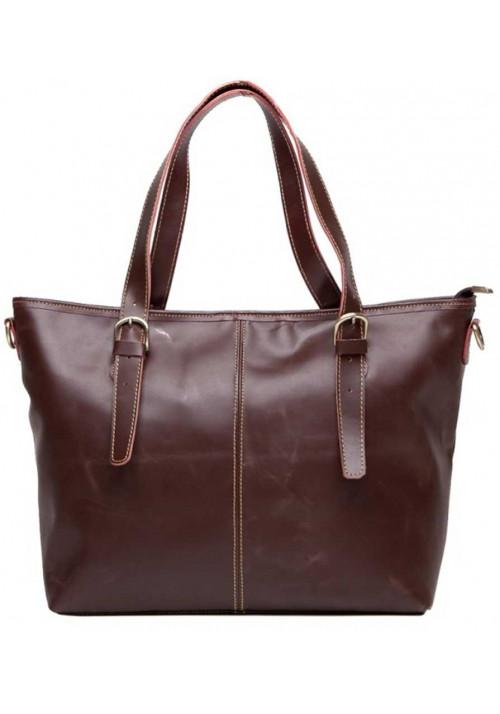 Женская сумка из коричневой гладкой кожи Tiding Bag