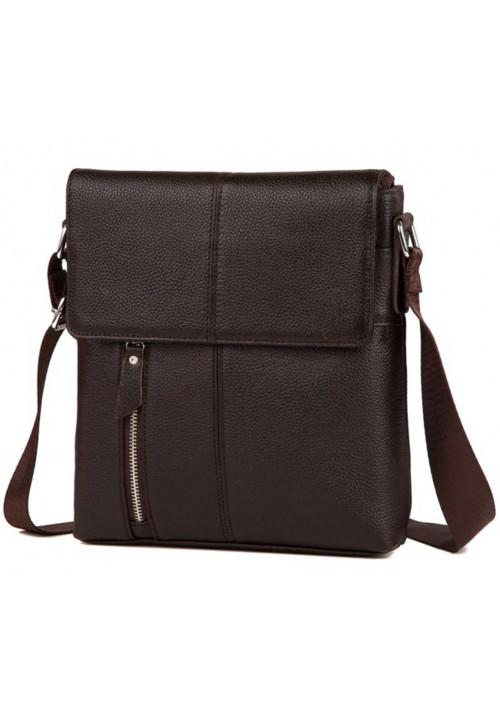 Коричневая мужская кожаная сумка на плечо Tiding Bag