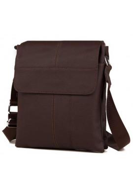 Фото Кожаная сумка на плечо для мужчины Tiding Bag коричневая