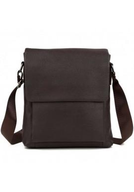 Фото Коричневая сумка мужская на плечо из кожи Tiding Bag