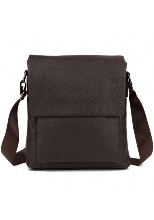 Коричневая сумка мужская на плечо из кожи Tiding Bag
