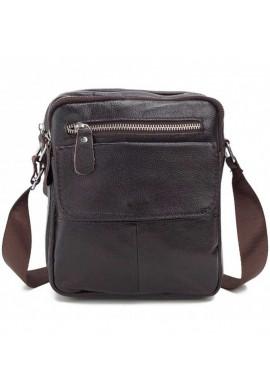 Фото Кожаный коричневый мессенджер Tiding Bag A25-1108C