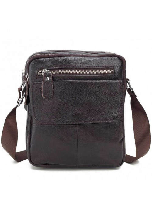 Кожаный  коричневый мессенджер Tiding Bag