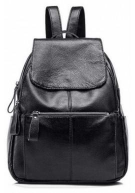 Фото Кожаный женский рюкзак с клапаном Tiding Bag