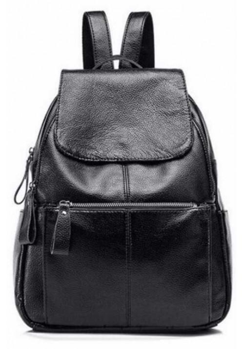 Кожаный женский рюкзак с клапаном Tiding Bag