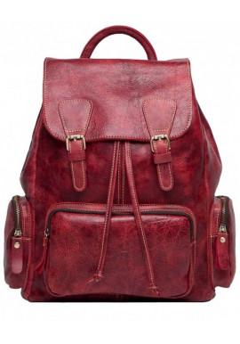 Фото Красный кожаный женский рюкзак Tiding Bag