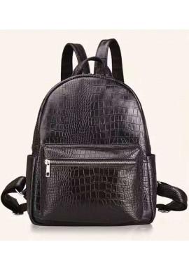 Фото Кожаный женский рюкзак с тиснением под рептилию Tiding Bag