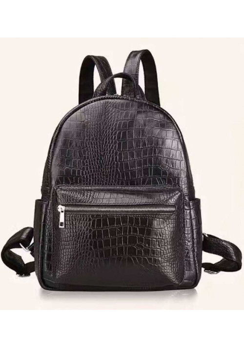 Кожаный женский рюкзак с тиснением под рептилию Tiding Bag