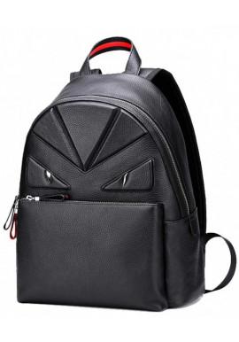 Фото Кожаный рюкзак с красной отделкой Tiding Bag