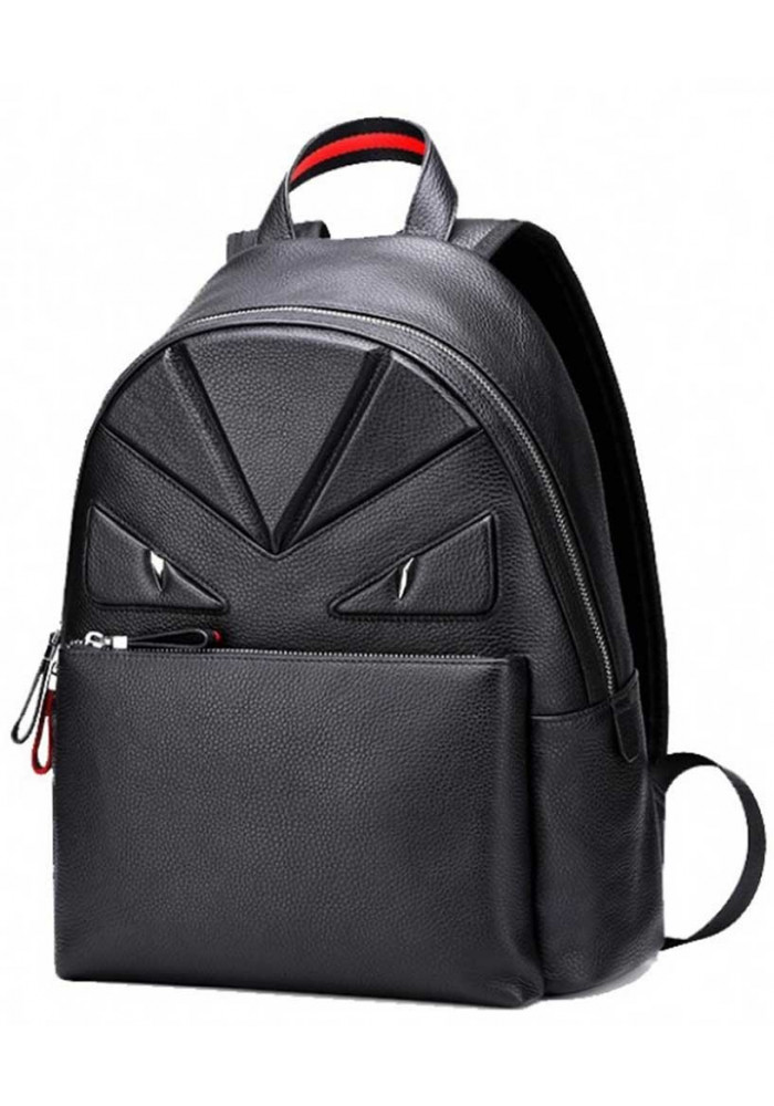 Кожаный рюкзак с красной отделкой Tiding Bag
