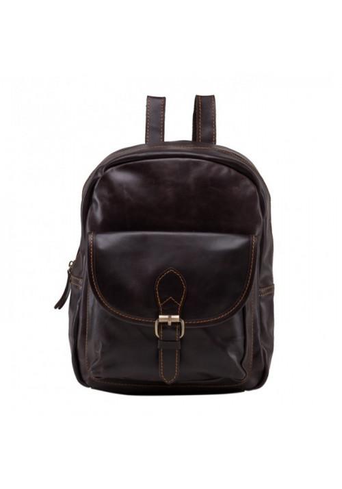 Кожаный коричневый рюкзак Tiding Bag