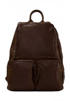 Фото Кожаный рюкзак с двумя карманами Tiding Bag