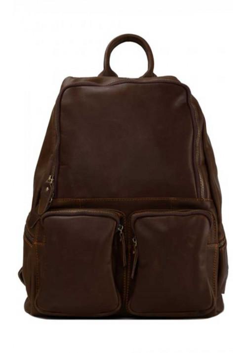 Кожаный рюкзак с двумя карманами  Tiding Bag