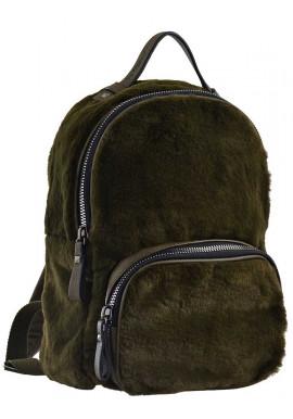 Фото Зеленый молодежный рюкзак из меха YES Weekend YW-10