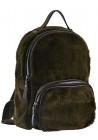 Зеленый молодежный рюкзак из меха YES Weekend YW-10